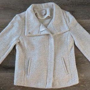 LOFT Super Soft Heather Asymmetrical Blazer Jacket
